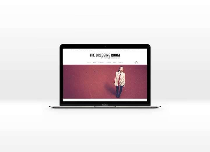 Webseite / Shop von The Dressing Room